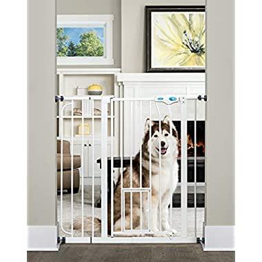 Carlson Extra Tall Pet Gate, with small pet door