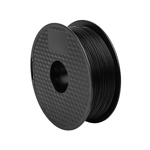 PLA Filament 1.75mm 3D Printer Filament PLA for 3D Printer 1kg Spool (2.2lbs), Dimensional Accuracy of +/- 0.02mm PLA Black