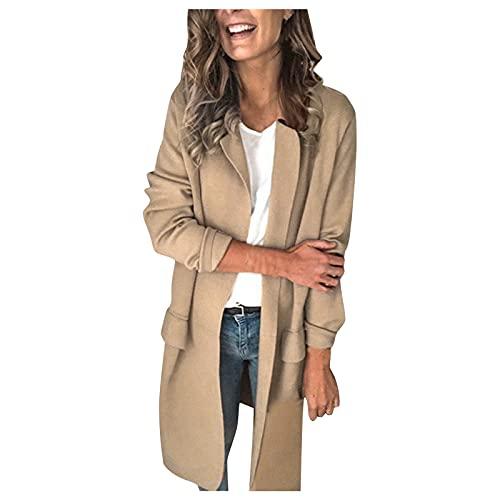 Julhold Chaqueta para mujer de manga larga liso casual de trabajo formal chaqueta chaqueta chaqueta