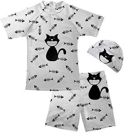 UNICEU Swimsuits for Little Boys Pool Party Swimwear Cartoon Cow Pattern Bathing Suit Age 5-14 Years