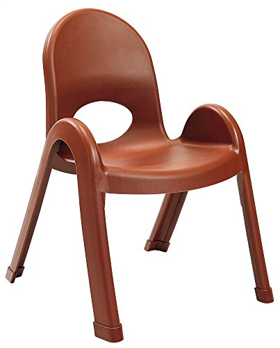 Children's Factory Angeles Value Stack Kids Chair, Preschool/Daycare/Playroom Furniture, Flexible Seating Classroom Furniture for Toddlers, Cocoa, 11