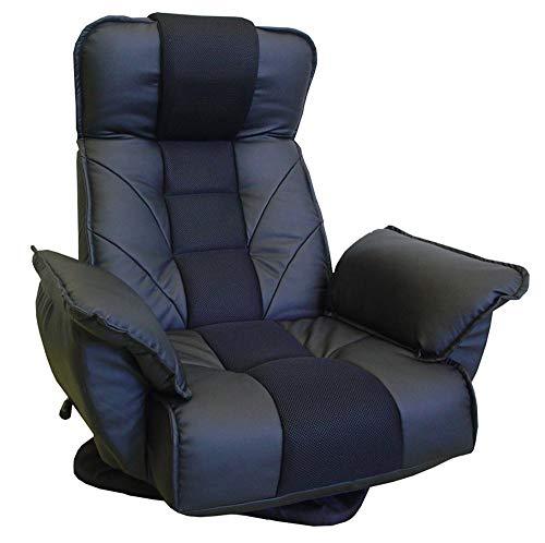 明光ホームテック株式会社 TVがみやすいレバー式回転座椅子 ブラック FRL‐アクロスBK 240(120×80×40)