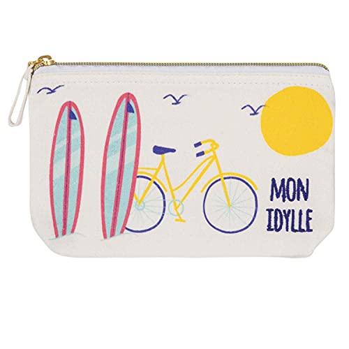 Draeger Paris – Bolsa de algodón Estampada Colorida – Organizador de Bolso/Bolsa de Belleza – Mon Idylle (en francés) - 21 x 12 cm