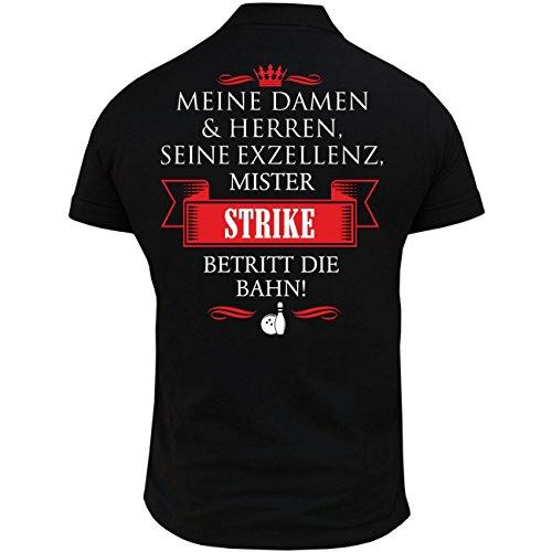 Life Is Pain Männer und Herren Polohemd Bowling Seine Exzellenz DER Bowler (mit Rückendruck)