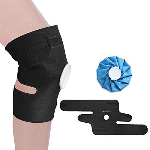 Rodillera de hielo con rodillera, terapia fría o caliente para lesiones atléticas, artritis, dolor torcido, tendinitis
