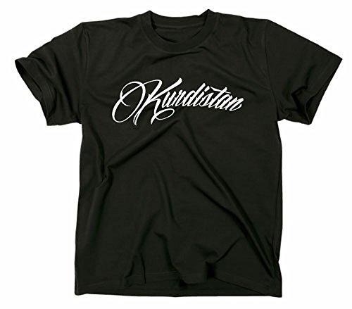 Kurdistan T-Shirt, Schriftzug, Schrift, M, schwarz