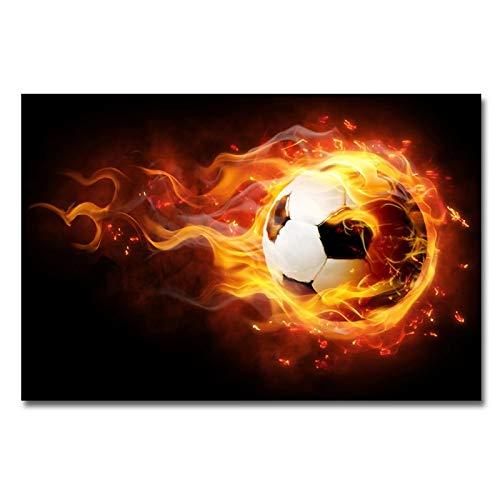 No frame Canvas schilderij moderne brand voetbal sport Wall Art poster en prints foto's voor woonkamer Home Decor 60x90cm