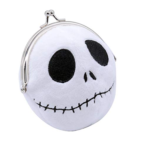 KDJSTORE Cute Plush Cosplay The Nightmare Before Christmas Coin Purse Change Pouch Wallet Small Money Bag for Kids, Plush Toy Funny