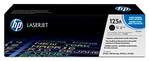 HP 125A 3er-Pack (CF373AM) Blau/Rot/Gelb Original Toner für HP Color Laserjet CP1215, CP1515, CM1312 & HP 125A (CB540A) Schwarz Original Toner für HP Color Laserjet CP1215, CP1515, CM1312