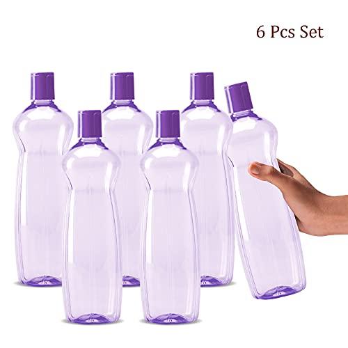 Milton Pacific 1000 Pet Water Bottles Set of 6, 1 Litre Each, Purple