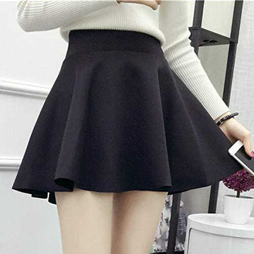 SeniorMar Fashion Female Large Swing Skirt Hoch taillierter A-Linienrock mit Reißverschluss Über dem Knie Langer Rock, Minifaltenrock A-Linienrock