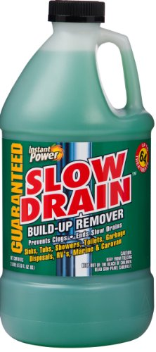 Instant Power 1907 Slow Drain Build Up Remover, 2 Liter