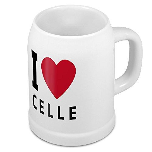 Bierkrug mit Stadtnamen Celle - Design stilvollem I Love Celle - Städte-Tasse, Becher, Maßkrug