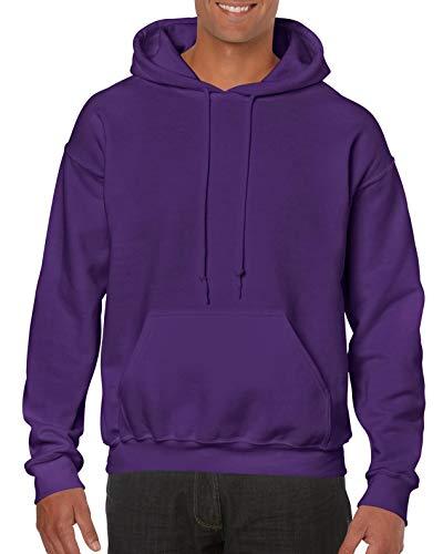 Gildan Heavy Blend Felpa, Viola (Purple 000), XL Uomo
