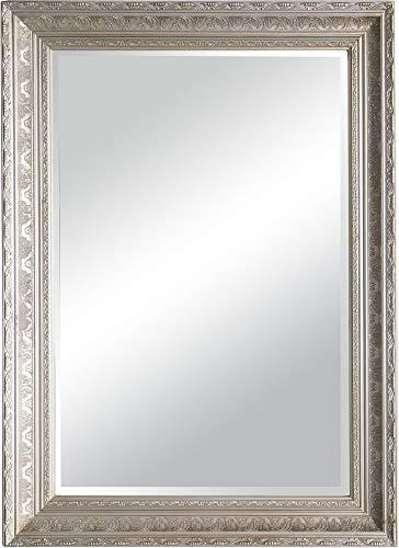 Beauty.Scouts Rahmenspiegel Wandspiegel Laura, Altsilber, mit Holzrahmen, ca. 78 x 108cm Spiegel Dekoration Dekospiegel Wanddeko Wohnzimmer elegant klassich