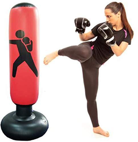 Saco de boxeo inflable vertical de 160 cm, bolsa de arena de...