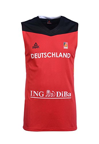 Peak Sport Europe Herren Peak Single Jersey Women 2016 Red Germany Trikot, Rot, XL