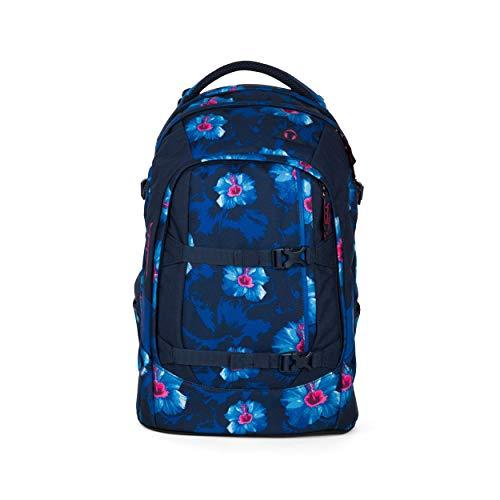 satch Pack Waikiki Blue, ergonomischer Schulrucksack, 30 Liter, Organisationstalent, Dunkelblau/Weiß/Pink