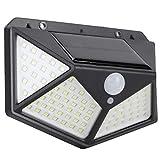 Lampada da Parete Solare , Lampada da Esterno Solare, Comoda e Facile da installare Lampada da Cortile ad Alta luminosità per Una Luce di Sicurezza Vicino alla Porta Lampione Stradale