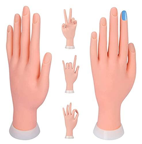 Praxis Modell Weiche Hand Starter Training Nagelkunst Praxishand Übungsfinger Modell für Maniküre Fleischfarbe 9.3 * 6.0 * 24.5cm