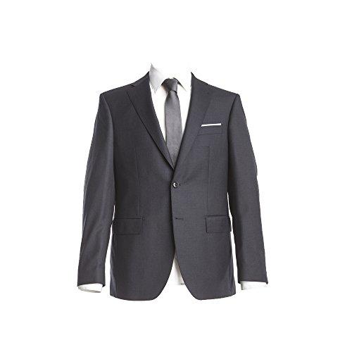 Barutti Sakko Clarenzio AMF Dunkelgrau Uni Comfort Fit normaler Schnitt 100% Pure Wool Schurwolle Super 150 S 70
