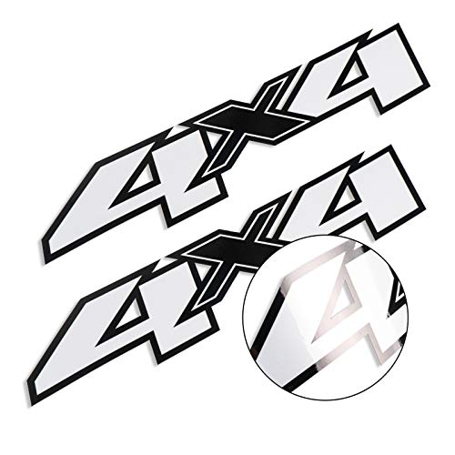 2X 4x4 Decals Stickers for Chevy Silverado F Truck Bed Side 2007-2013