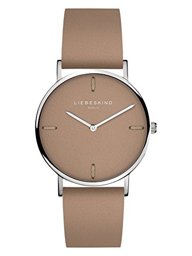 Liebeskind Berlin Damen Analog Quarz Smart Watch Armbanduhr mit Leder Armband
