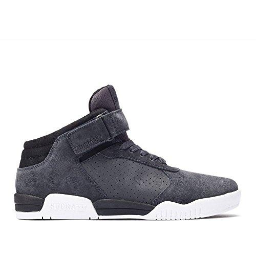 Supra Mens 2016 Ellington Strap Shoes Size 8 Dark Grey/Black-White