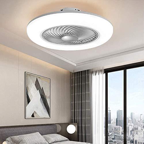 Deckenventilator Mit Beleuchtung Leise LED Fan Deckenleuchte Mit Fernbedienung Dimmbar 80W Kreative Modern Deckenlampe Ventilator Schlafzimmer Wohnzimmer Esszimmer Kinderzimmer Kann Timing,Grau