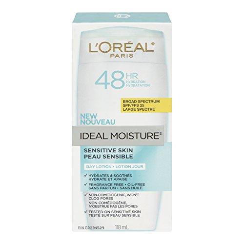 L'Oreal Paris Ideal Moisture Day Lotion SPF 25, Sensitive Skin, 4.0 Fluid Ounce by L'Oreal Paris