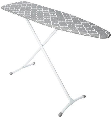 Homz Steel Ironing Board Contour Grey & White Lattice Cover, Grey and White Filigree