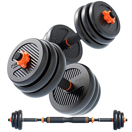 Gnpolo Dumbbells Free Weights Set Workout Exercise Adjustable Barbell Gym Fitness Equipment