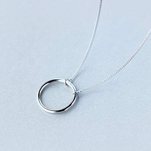 DOOLY Sketch Extremelaism True 925 £ Silver Geometric Round Pendant Necklace 925 Sterling Silver Exquisite Jewelry for Female Gift