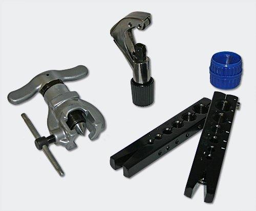 Bördelgerät Winkelbieger für metrische und zöllige Rohre