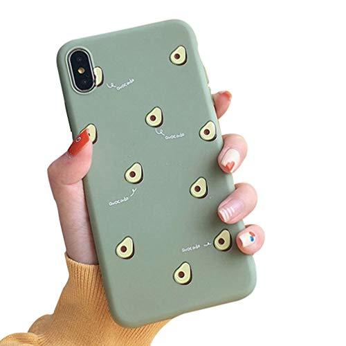LPZOOOM Coque iPhone 6 Plus, iPhone 6S Plus Housse de Protection Avocat Fruits Doux Coque Silicone en Gel Souple Protection Absorption Choc Anti-Scratch Etui Case Cover pour iPhone 6/ 6S