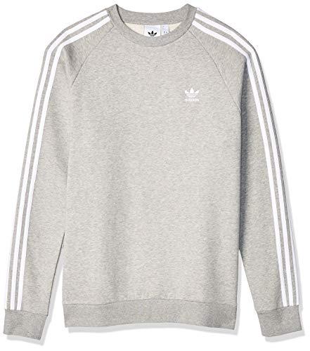 adidas Originals Crewneck Herren 3-Stripes Crew ED6016 Grau, Größe:XL