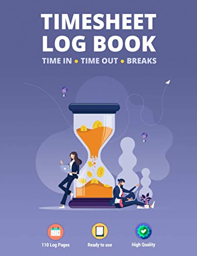 Timesheet Log Book: Large Size Employee Work Time and Breaks Tracking for Small & Medium Business   Modern Concept Design Vol.10 (Record & Monitor Work Hours, Band 10)