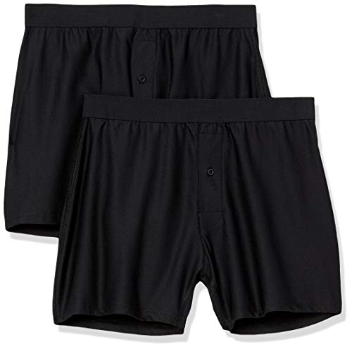 Amazon Essentials 2-Pack Breathable Quick-Dry On-The-go Boxer-Shorts, Schwarz, US L (EU L)