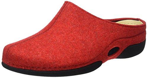 Berkemann Lauren, Zapatillas de Estar por casa Mujer, Rojo, 43,5