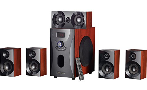 auvisio 5 1 Soundsystem: Home-Theater Surround-Sound-System 5.1, 160 Watt, MP3/Radio, Holzoptik (Soundsystem Home)