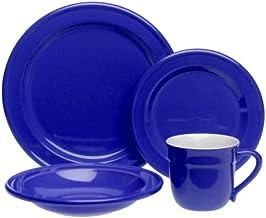 Emile Henry Le Potier Azure Blue 4-Piece Dinnerware Place Setting, Service for 1