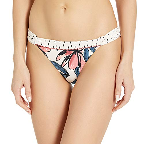 Anne Cole Studio Women's Standard Shirred Tab Side Bikini Swim Bottom, Floral Print, Large