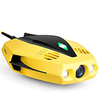 CHASING Dory Underwater Drone - 1080p Full HD Underwater Drone with Camera for Real Time Viewing, APP Remote Control, Palm-Sized and Portable with Carrying Case, WiFi Buoy and 49 ft Tether, ROV