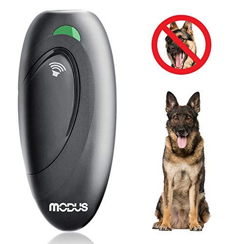 MODUS Dispositivos Antiladridos, Ultrasónico Adiestramiento para Perros, 2 en 1 Entrenamiento de Perros y Control De Ladridos, Rango 5m 100% Segura Paseando al Perro