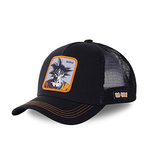 Capslab Gorra Trucker Negra Son Goku GOKD Dragon Ball
