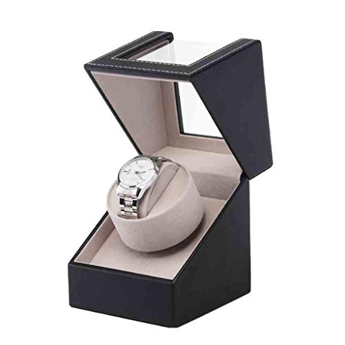 LY88 Automatic Watch Winder Automatic Rotation Brown Leather Wood Watch Winder Storage Display Case Box, Best Gifts