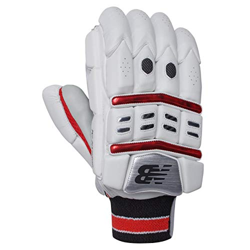 New Balance 9TCHYBG TC Hybrid Cricket-Handschuhe für Erwachsene, rot, Adult Right Hand