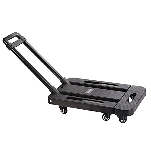 Boshen 440lb Heavy Duty Luggage Cart Dolly Folding Platform Moving Warehouse Push Hand Truck, 18.50'x11.81'x3.54' Folded Size