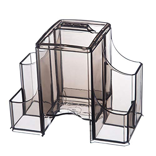 Yunly Caja de almacenamiento de joyería multifuncional de escritorio de la caja de la exhibición de la joyería de la caja de joyería para anillos pendientes collares para niñas