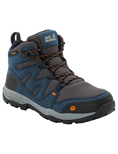 Jack Wolfskin Unisex-Kinder MTN Attack 3 Texapore Mid Trekking- & Wanderstiefel, Blau (Night Blue 1010), 35 EU